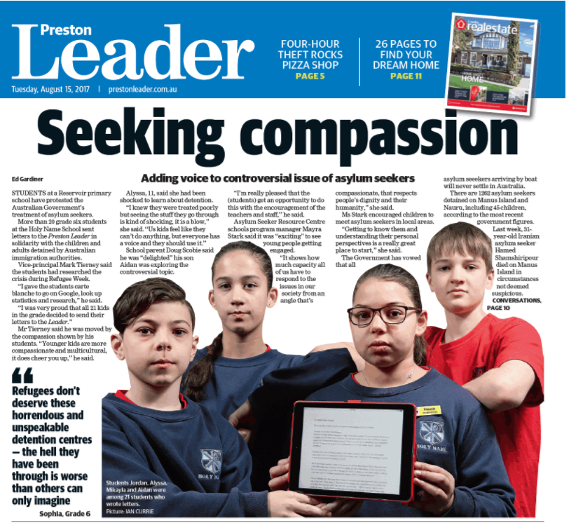 Seeking Compassion Preston Leader 15 August 2017