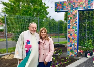 Father Peter & Art Teacher, Mrs Vivarelli