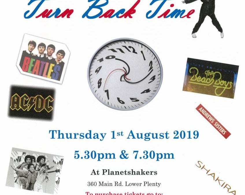 Turn Back Time – School Production