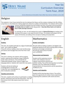 Year 6 Term 4 Overview 2019